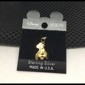 Sterling silver Goofy with gold overlay